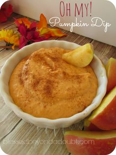 So easy, but delicious pumpkin dip! I love fall recipes! It's my favorite time of year to try new recipes!