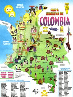 Colombia plansouthamerica the travel specialists world maps mapa indgena de colombia gumiabroncs Choice Image