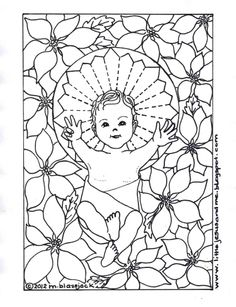 Little Jesus and Me: Baby Jesus Coloring Page