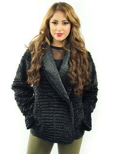 Faux Fur Woven Jacket