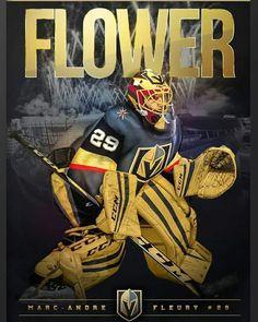 Golden Knights' Marc-Andre Fleury Posters - Get Both for One Great Price! Vegas Golden Knights, Las Vegas Knights, Golden Knights Hockey, Hockey Goalie, Hockey Players, Hockey Mom, Funny Hockey, Baseball Boys, Hockey Girls