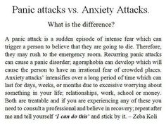 The difference between panic attacks and anxiety attacks