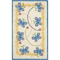 Safavieh Safavieh Kids Collection SFK390A Handmade Ivory and Blue Cotton Area Rug (3' x 5') *** Discover this special product, click the image (This is an amazon affiliate link. I may earn commission from it)