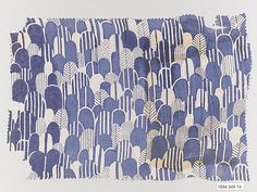 Wiener Werkstätte Textile Sample, ca. 1920 --Such a pretty soft blue. The Werkstatte was a terribly ambitious and innovative bunch of people, fascinating to learn about.
