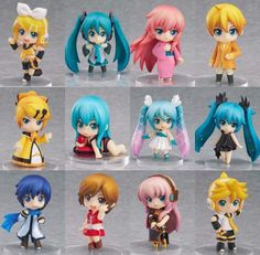 New 12pc Lot Vocaloid Hatsune Miku Meiko Kaito Rin Len Luka Figure Set NO Box in Collectibles, Animation Art & Characters, Japanese, Anime | eBay