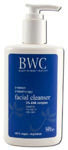 Beauty Without Cruelty A.H.A. 3% Facial Cleanser, 8.5 ozs. by Beauty without Cruelty. $11.98. 100% vegetarian. Benefits normal to dry skin. 3% alpha hydroxy complex. BWC 3% AHA Cleanser is a lightly-foaming, soap-free cleanser that removes dead surface skin cells, daily impurities, and excess oil without over-cleaning your skin. Nature's own alpha- and beta-hydroxy acids (AHAs) gently and deeply clean and actively clarify your skin without disturbing its natura...