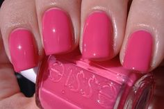 "Essie ""Status Symbol"" omg that is a hot pink!"