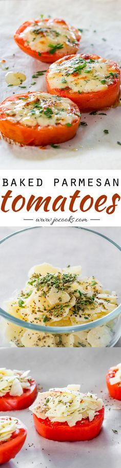 These Baked Parmesan Tomatoes from Jo Cooks are so simple and cook up in minutes making them perfect for a weeknight appetizer or as a side dish for a weekend brunch.