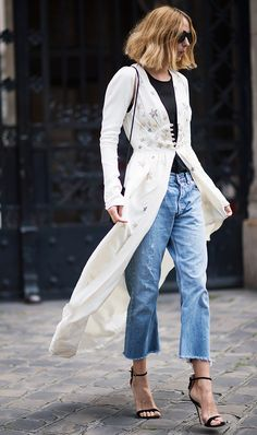 "Long robe over jeans -- ""This Is the Next Huge Street Style Trend You're Going to See Everywhere"" via @WhoWhatWearUK"