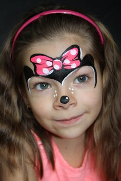 Minnie Mouse Girls face painting by Let's Bounce Inflatables, Burnaby BC