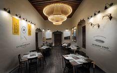 Definitivamente podria ser de mis restaurantes favoritos solo por el diseño.   Montero by Anagrama , via Behance