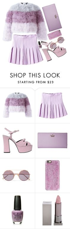 """""""Lavender"""" by maddog22 ❤ liked on Polyvore featuring Daizy Shely, Yves Saint Laurent, Kate Spade, Sunday Somewhere, Casetify and Lipstick Queen"""