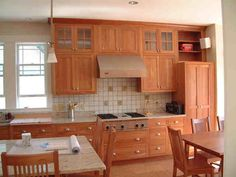 This Is A Natural Cherry Arts And Craft Style Kitchen. The Doors Are  Recessed Panel (like A Shaker Style) And Set Flush With The Cabinet Frame  (flush Inset) ...