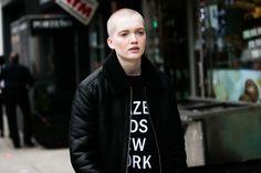 Le mannequin Ruth Bell à la Fashion Week de New York
