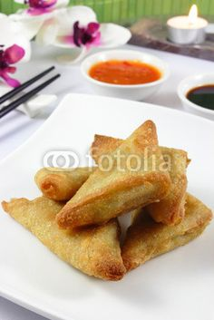 spring rolls with hot dip