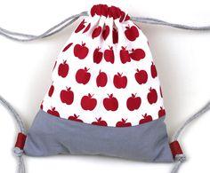 """Rucksäcke - Turnbeutel Rucksack für Kinder backpack """"Apfel"""" - ein Designerstück von lucieandcate bei DaWanda"""