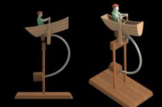 Billedresultat for wooden animated toys Wood Projects, Woodworking Projects, Diy Toys And Games, Kinetic Toys, Wood Crafts, Diy And Crafts, Marble Machine, Wooden Man, Push Toys