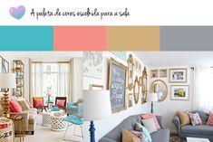 Wishlist do apê | Sala   Paleta de cores