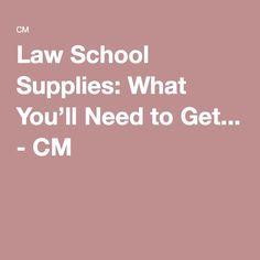 What do I need to know about law school?