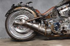 Siren of TI Chopper - Scott Cawood Metal Artist
