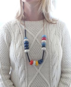 diy bead necklace from Say Yes