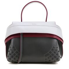 TOD'S MINI WAVE BAG TRICOLOR SEMI-GLOSSY GOMMINI TOTE XBWAMRHG101-9MD-0Q47 #TODS #TotesShoppers
