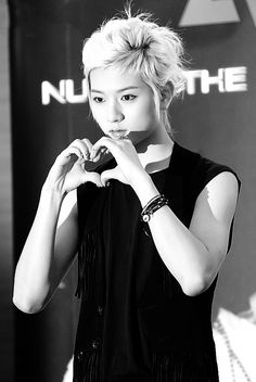 He still looks like he is going to kill you behind that heart. - Ren