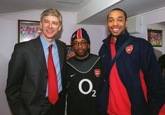 Arsene Wenger, Spike Lee, Thierry Henry