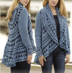 crochet lace jacket free pattern. Links to many crochet jackets for women and children