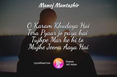 O Karam Khudaya Hai Tera Pyaar jo paya hai  Tujhpe Mar ke hi to  Mujhe Jeena Aaya Hai / LyricsMasti....