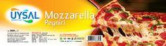 uysal gıda kurumsal kimlik tasarımı kapsamında mozarella peyniri etiket ambalaj tasarımı & basımı