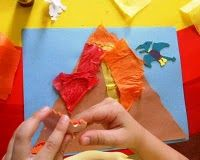 Cute volcano to do during dinosaur unit