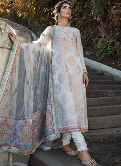 Salwar Kameez & salwar suit by Pakistani designers. Stitched original designer dresses from Pakistan. Latest Pakistani Fashion, Pakistani Couture, Pakistani Bridal Dresses, Pakistani Dress Design, Pakistani Outfits, Indian Dresses, Indian Fashion, Pakistani Clothes Casual, Women's Fashion