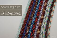 Schmuck Step-by-step instructions for pearl crochet with many photos. I will show you how to crochet Bead Crochet Rope, Fabric Beads, Peyote Stitch, Diy Arts And Crafts, Step By Step Instructions, Crochet Instructions, How To Make Beads, Lampwork Beads, Beaded Embroidery