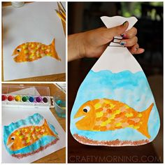 219 Best Kids Crafts Fish Beach Images Rainbow Fish Art For