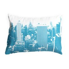 My design inspiration: New York City Throw Pillow Teal on Fab.
