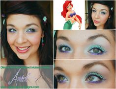 The Little Mermaid, Ariel, Inspired Makeup - Click to see more photos of this look.