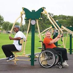 2-Person Accessible Chest Press | Greenfields Outdoor Fitness #outdoorfitnessequipment>>> See it. Believe it. Do it. Watch thousands of spinal cord injury videos at SPINALpedia.com Volleyball Training Equipment, Weight Training Equipment, No Equipment Workout, Outdoor Workouts, Fun Workouts, Outdoor Gym, Outdoor Ideas, Workout Memes, Workout Gear