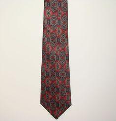 American Traditions Made USA Mens 100% Italian Silk Dress Neck Necktie Tie 60in #AmericanTraditions #Tie