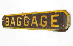 c. 1900 Railroad Station 'Baggage' Sign | From a unique collection of antique and modern signs at http://www.1stdibs.com/furniture/folk-art/signs/