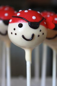 Pirate Cake Pops by sweetpopsshop on Etsy, $26.00