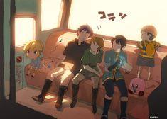 Bus Ride! Toon Link, Jigglypuff, Ike, Link, Marth, Ness, Kirby