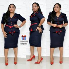 Navy Blue Red Button Gown Size: UK: Price: WhatsApp us on 08023333347 to place order. We deliver quality Turkey wears at affordable Elegant Looks 💋💋💋💋 Island Red Bodycon Dress, Peplum Dress, Special Occasion Outfits, Red Button, Navy Blue Dresses, Online Fashion Stores, Online Boutiques, Like4like, Gowns