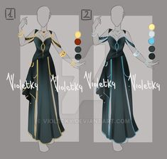 :: Adoptable Outfit 09: AUCTION OPEN :: by VioletKy.deviantart.com on @DeviantArt