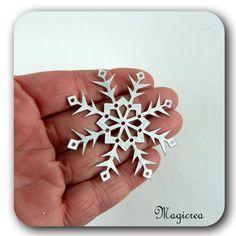FLOCON DE NEIGE PVC 5.5 CM ARGENTE - Boutique www.magicreation.fr Pvc, Boutique, Silver Rings, Flakes, Snow