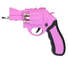 Roze Elektrische schroevendraaier Welke dame durft het aan?  Super kado!