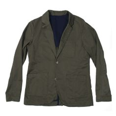 Sea Washed Olive Twill Telegraph Jacket - featured image