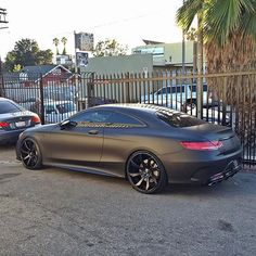 Matte Black Mercedes Benz S63 AMG  - @Gentlemens.quotes  Courtesy of @RDBLA