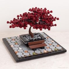 Genug mit der Kälte: Der neue Bonsai-Baum von Chris McVeigh bringt uns den Frü… Enough with the cold: The new bonsai tree by Chris McVeigh brings us the spring – the construction manual for this LEGO MOC is available online. Lego Ninjago, Lego Robot, Lego Design, Lego Moc, Lego Hacks, Lego Tree, Construction Lego, Lego Furniture, Lego Craft