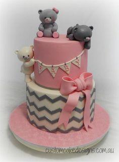 Pink Baby Shower Cake - Cake by Custom Cake Designs